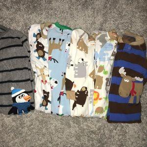 6 Carter's Fleece Pajamas
